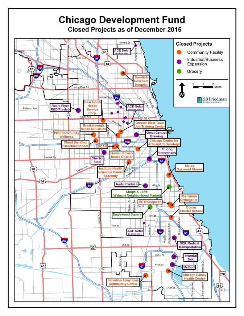 Map of Closed CDF Projects